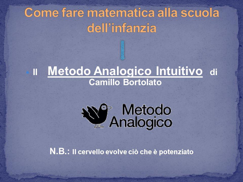 Il Metodo Analogico Intuitivo di Camillo Bortolato N.B.: Il cervello evolve ciò che è potenziato