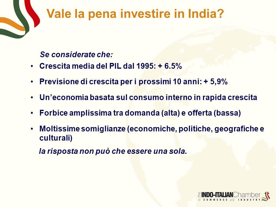 Vale la pena investire in India.