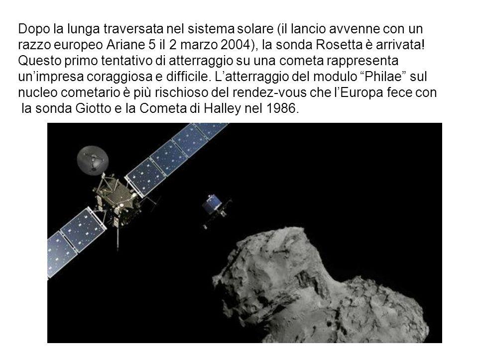 Dopo la lunga traversata nel sistema solare (il lancio avvenne con un razzo europeo Ariane 5 il 2 marzo 2004), la sonda Rosetta è arrivata.