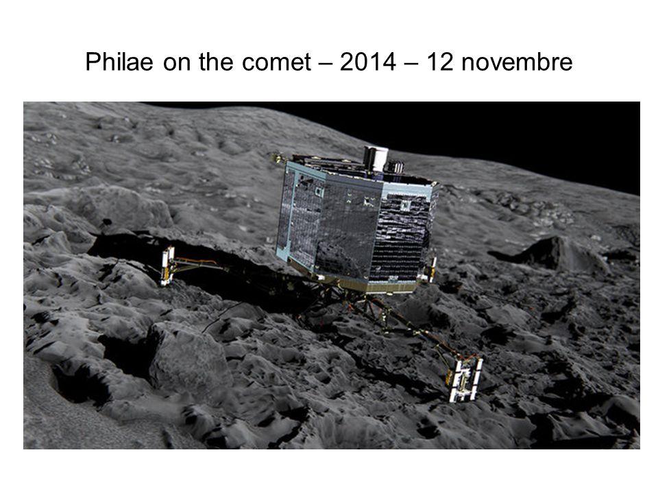 Philae on the comet – 2014 – 12 novembre