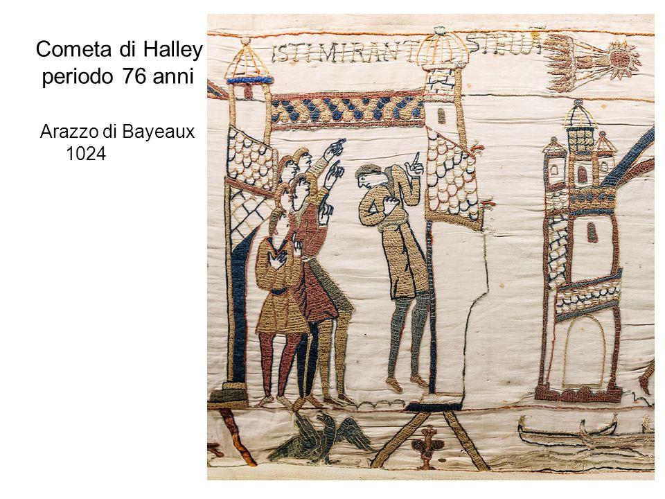 Cometa di Halley periodo 76 anni Arazzo di Bayeaux 1024