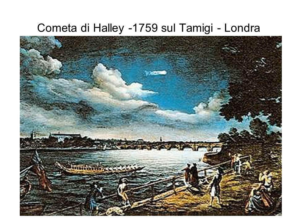 Cometa di Halley -1759 sul Tamigi - Londra