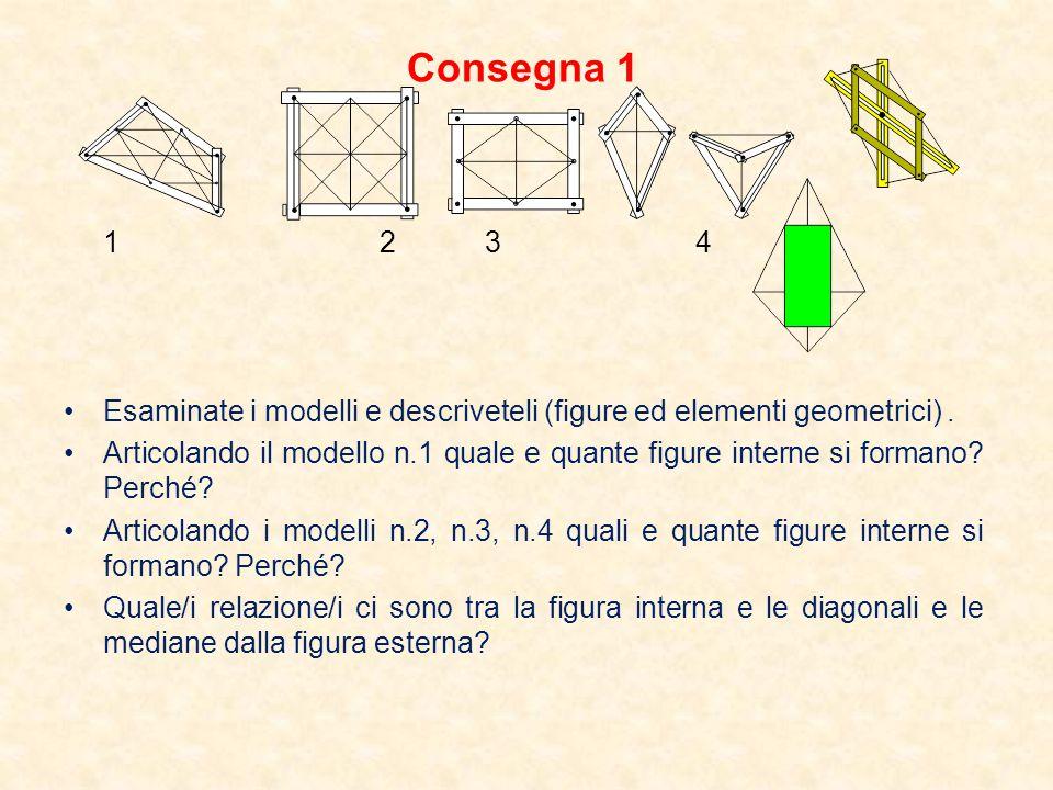 Consegna 2 12341234 Esaminate i modelli e descriveteli (figure ed elementi geometrici).