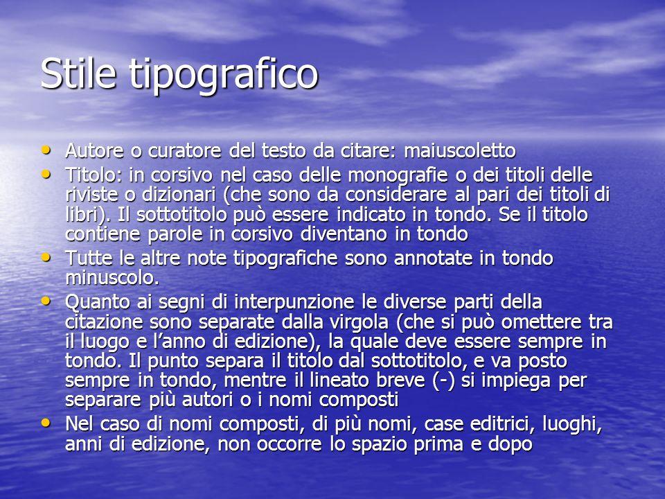 Esempi di citazione: le monografie G.Lorizio, La logica della fede.
