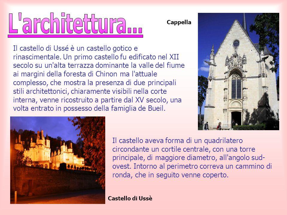 Il castello di Ussé è un castello gotico e rinascimentale. Un primo castello fu edificato nel XII secolo su un'alta terrazza dominante la valle del fi