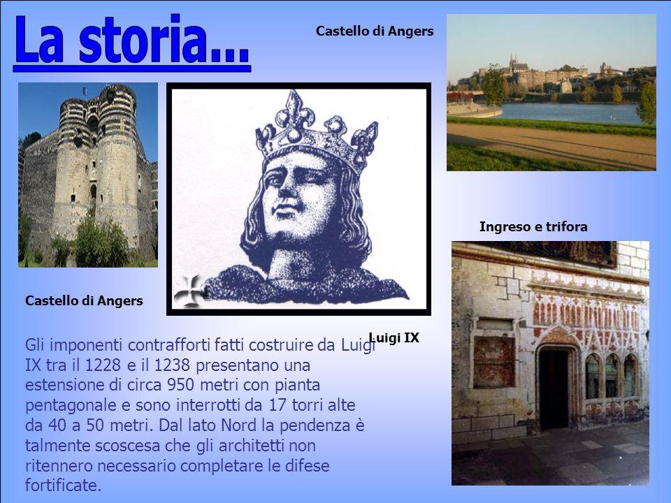Gli imponenti contrafforti fatti costruire da Luigi IX tra il 1228 e il 1238 presentano una estensione di circa 950 metri con pianta pentagonale e son