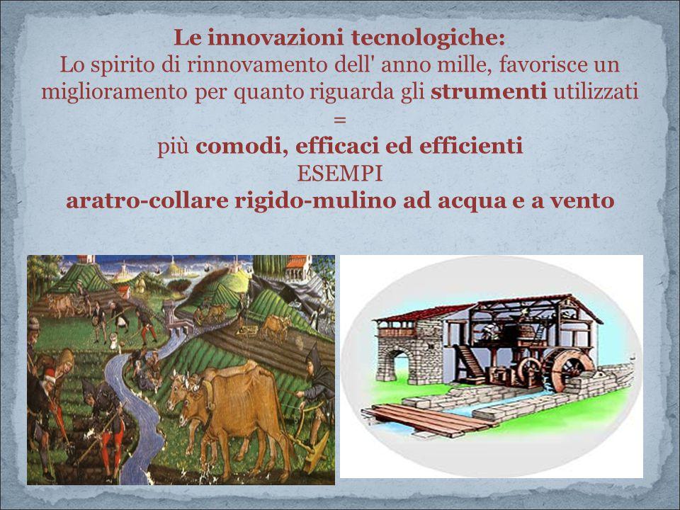 Le innovazioni tecnologiche: Lo spirito di rinnovamento dell' anno mille, favorisce un miglioramento per quanto riguarda gli strumenti utilizzati = pi