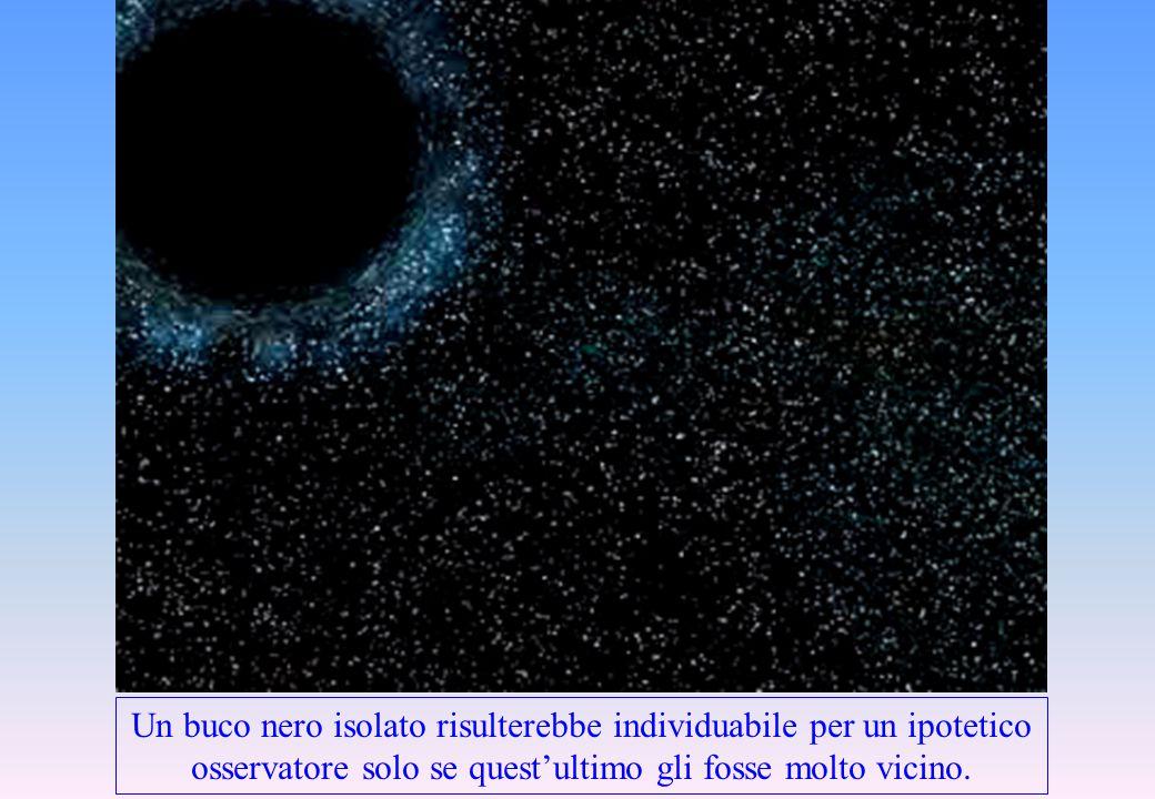 Un buco nero isolato risulterebbe individuabile per un ipotetico osservatore solo se quest'ultimo gli fosse molto vicino.