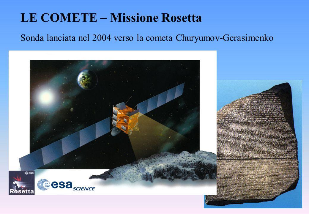 Sonda lanciata nel 2004 verso la cometa Churyumov-Gerasimenko LE COMETE  Missione Rosetta