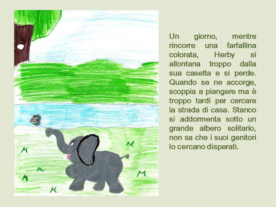 La mattina seguente, quando l'elefantino apre gli occhi, si ritrova imprigionato in una stretta rete.
