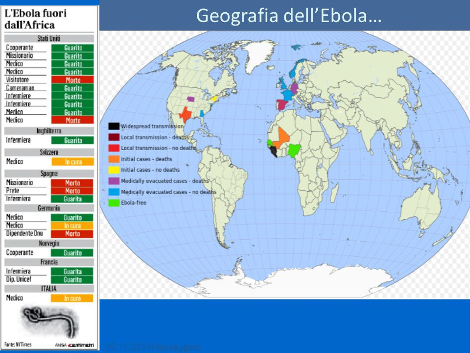 30/11/2014Messaggero Geografia dell'Ebola…