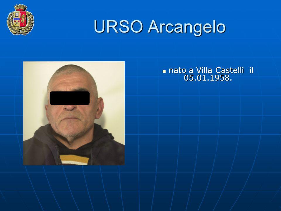 URSO Arcangelo nato a Villa Castelli il 05.01.1958. nato a Villa Castelli il 05.01.1958.