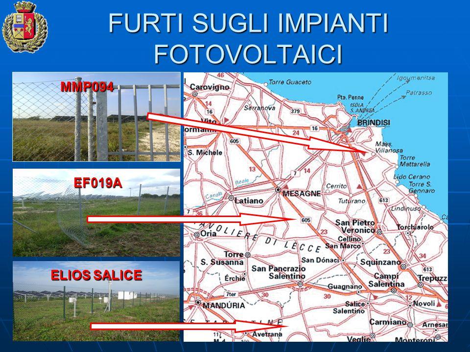 FURTI SUGLI IMPIANTI FOTOVOLTAICI MMP094 EF019A ELIOS SALICE