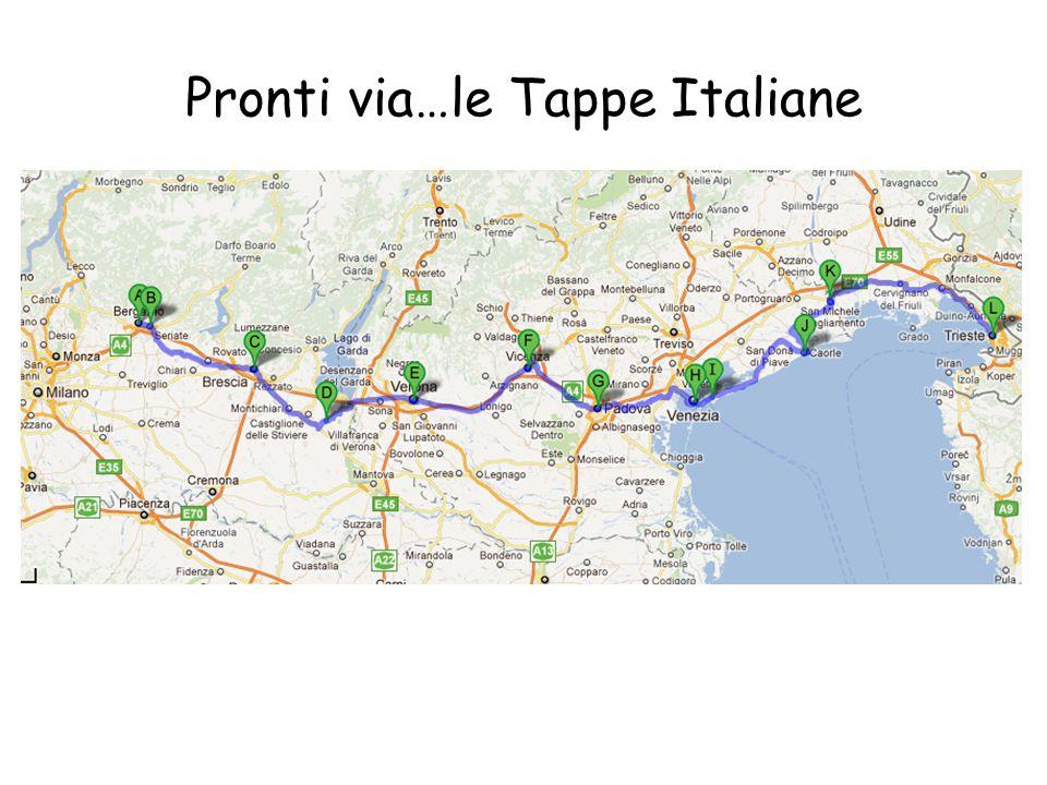 Pronti via…le Tappe Italiane