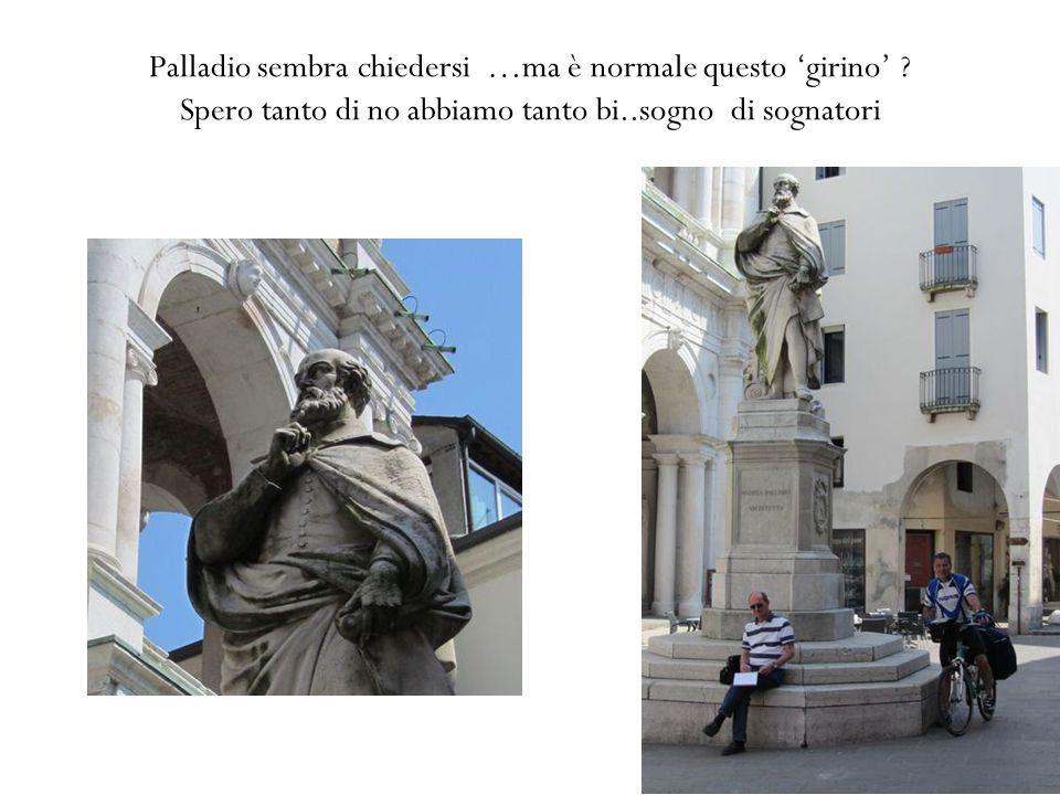 Palladio sembra chiedersi …ma è normale questo 'girino' .