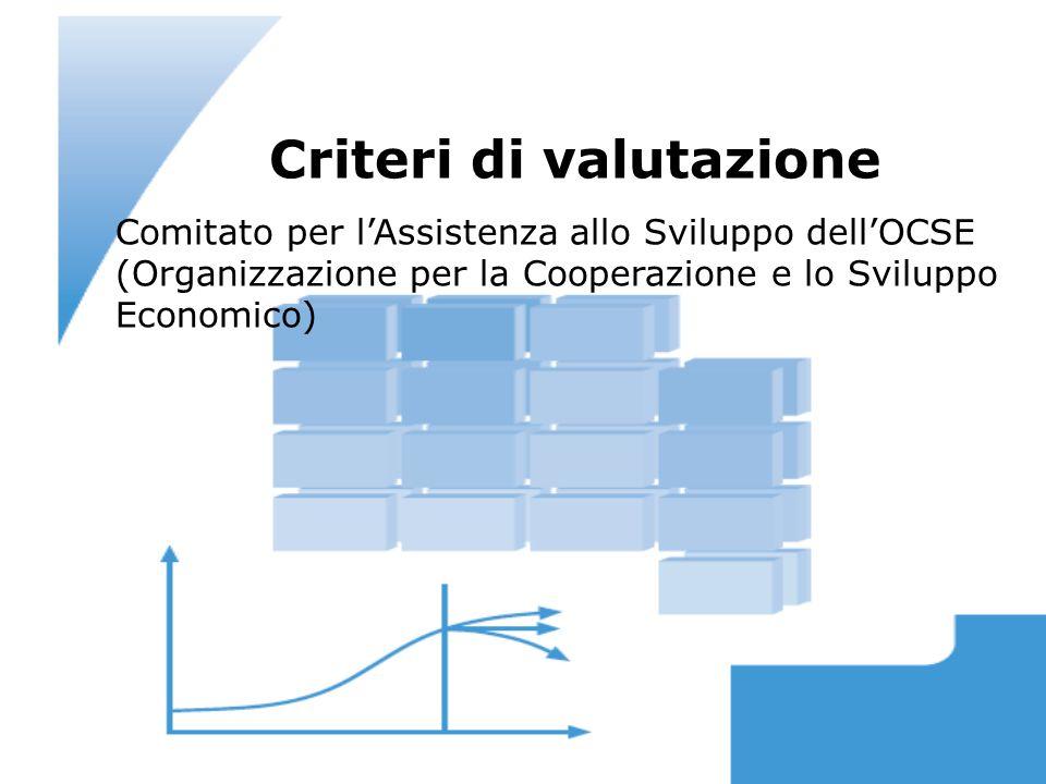 Criteri di valutazione Comitato per l'Assistenza allo Sviluppo dell'OCSE (Organizzazione per la Cooperazione e lo Sviluppo Economico)