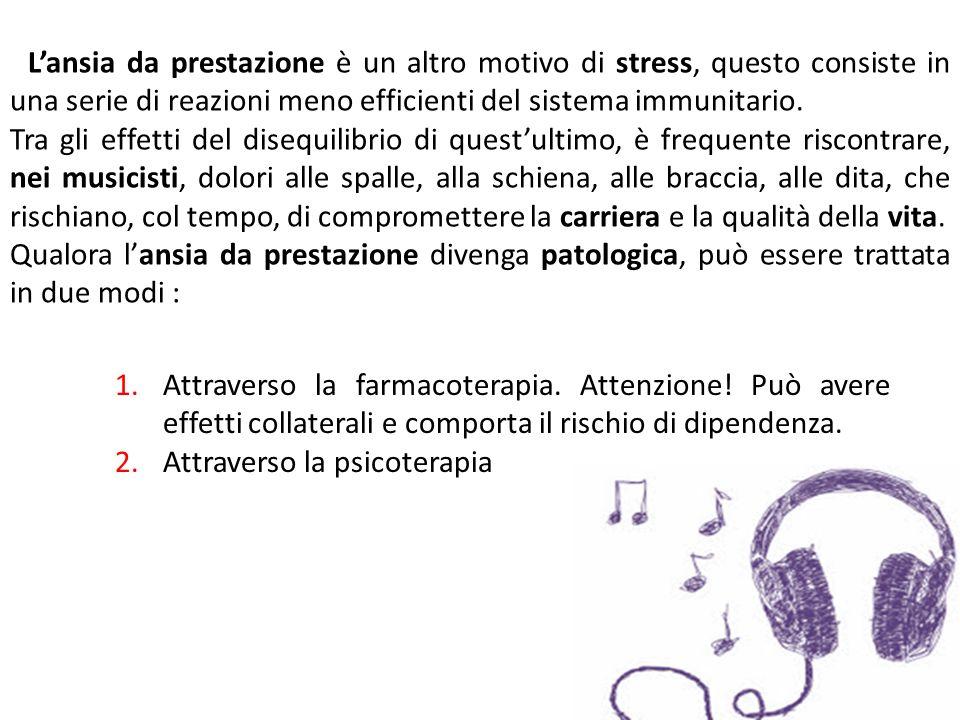 L'ansia da prestazione è un altro motivo di stress, questo consiste in una serie di reazioni meno efficienti del sistema immunitario. Tra gli effetti