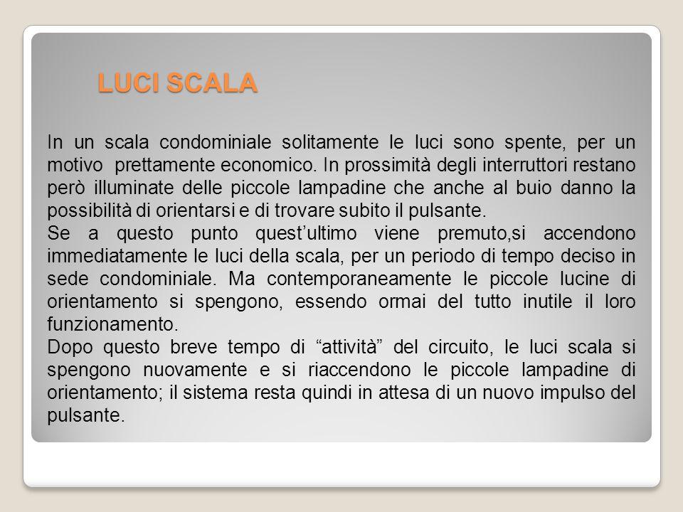 LUCI SCALA In un scala condominiale solitamente le luci sono spente, per un motivo prettamente economico.
