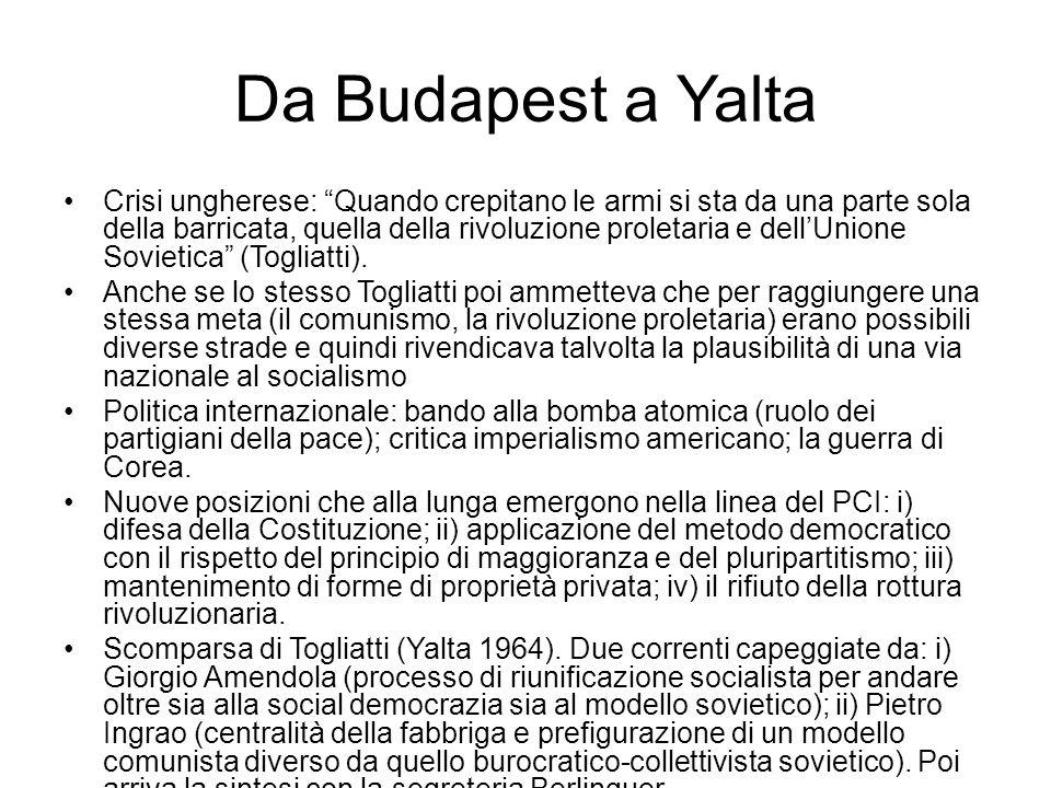 """Da Budapest a Yalta Crisi ungherese: """"Quando crepitano le armi si sta da una parte sola della barricata, quella della rivoluzione proletaria e dell'Un"""
