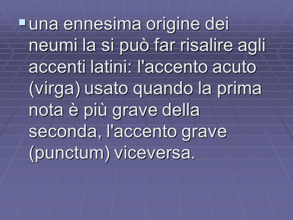  Tale scrittura è detta anche chironomica perché ricorda l'andamento della mano del precentor durante la direzione dei cantores;