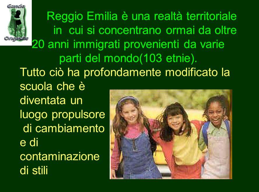 Reggio Emilia è una realtà territoriale in cui si concentrano ormai da oltre 20 anni immigrati provenienti da varie parti del mondo(103 etnie).