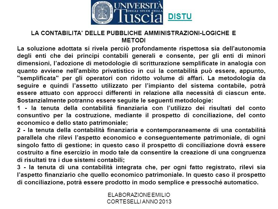 ELABORAZIONE EMILIO CORTESELLI ANNO 2013 Articolo 183 - Impegno di spesa 1.