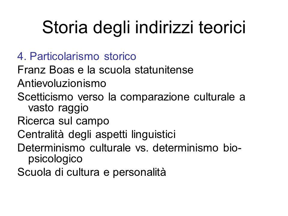 Storia degli indirizzi teorici 4.