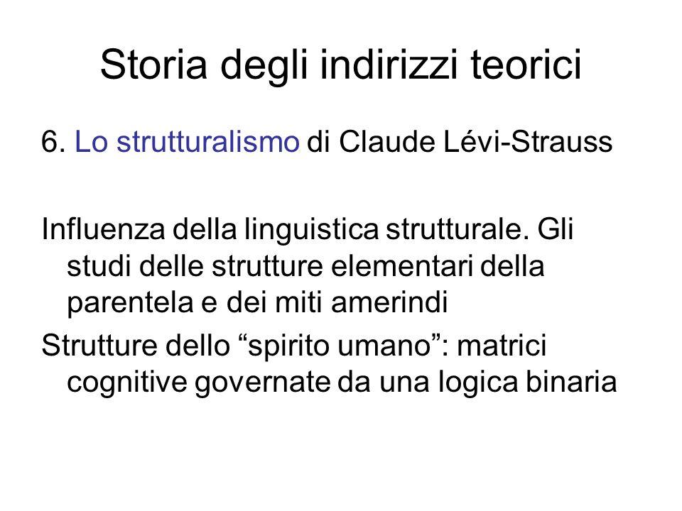 Storia degli indirizzi teorici 6.