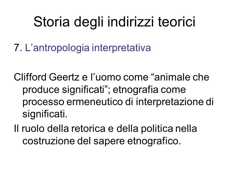Storia degli indirizzi teorici 7.