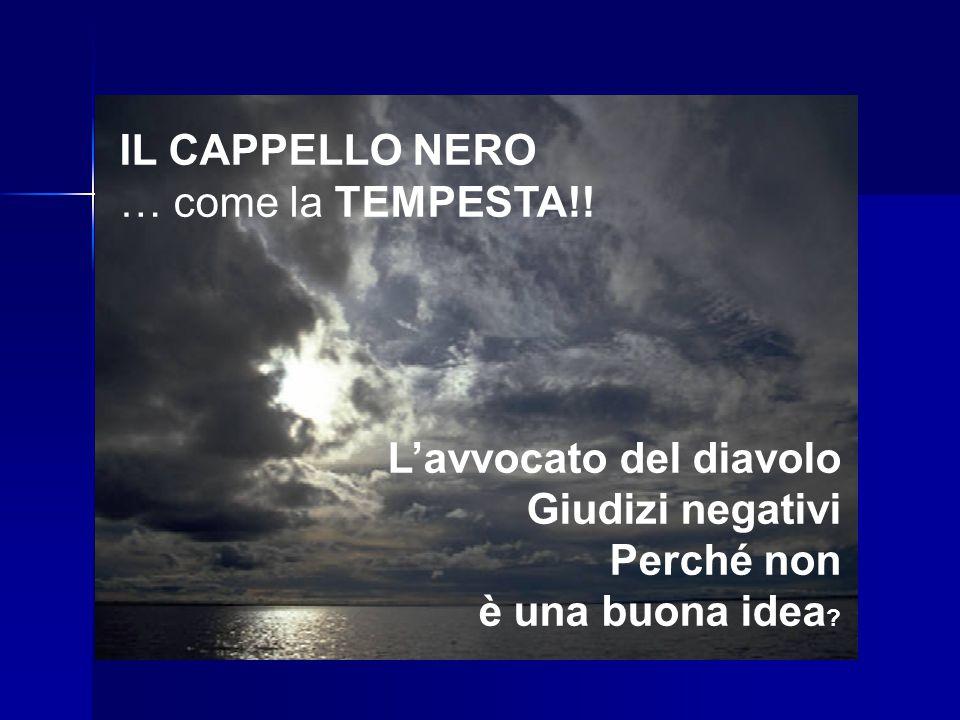 IL CAPPELLO NERO … come la TEMPESTA!.