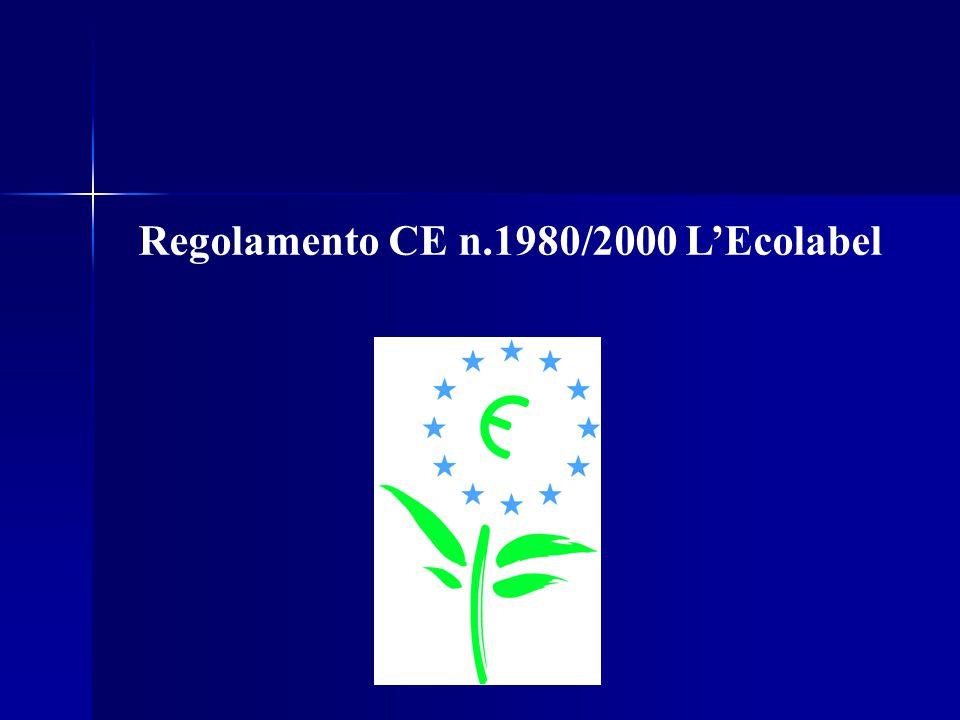Regolamento CE n.1980/2000 L'Ecolabel