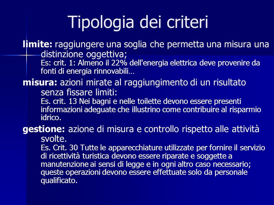 limite: raggiungere una soglia che permetta una misura una distinzione oggettiva; Es: crit.