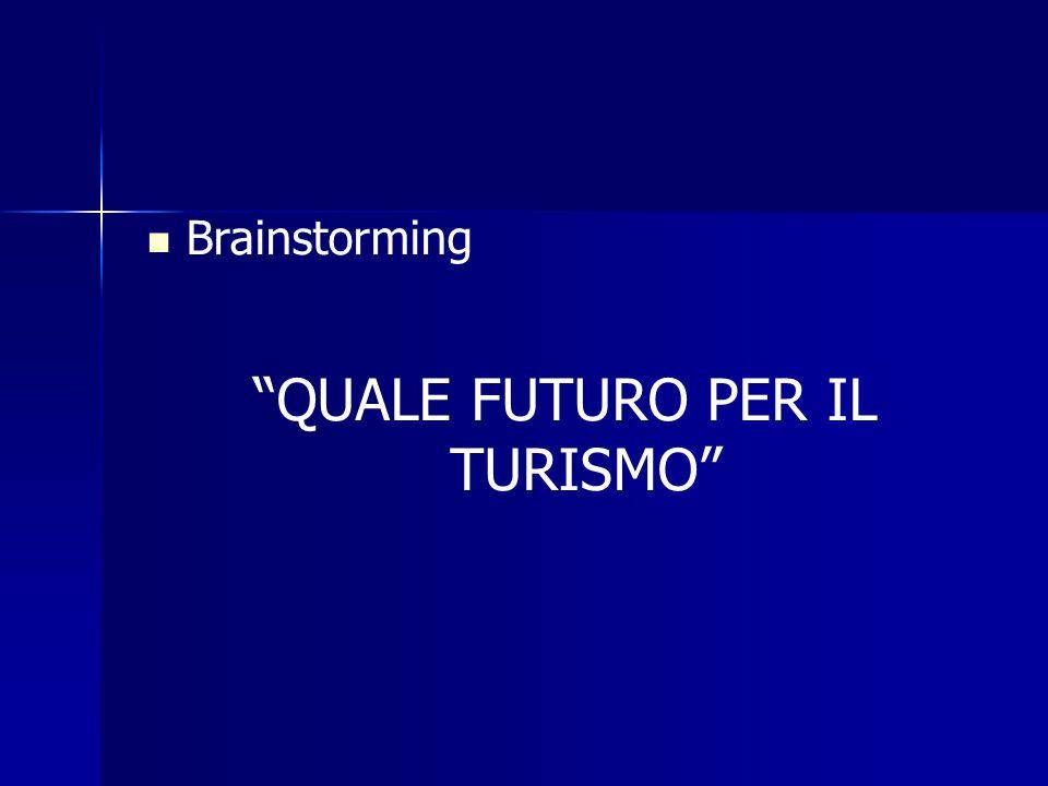 Brainstorming QUALE FUTURO PER IL TURISMO