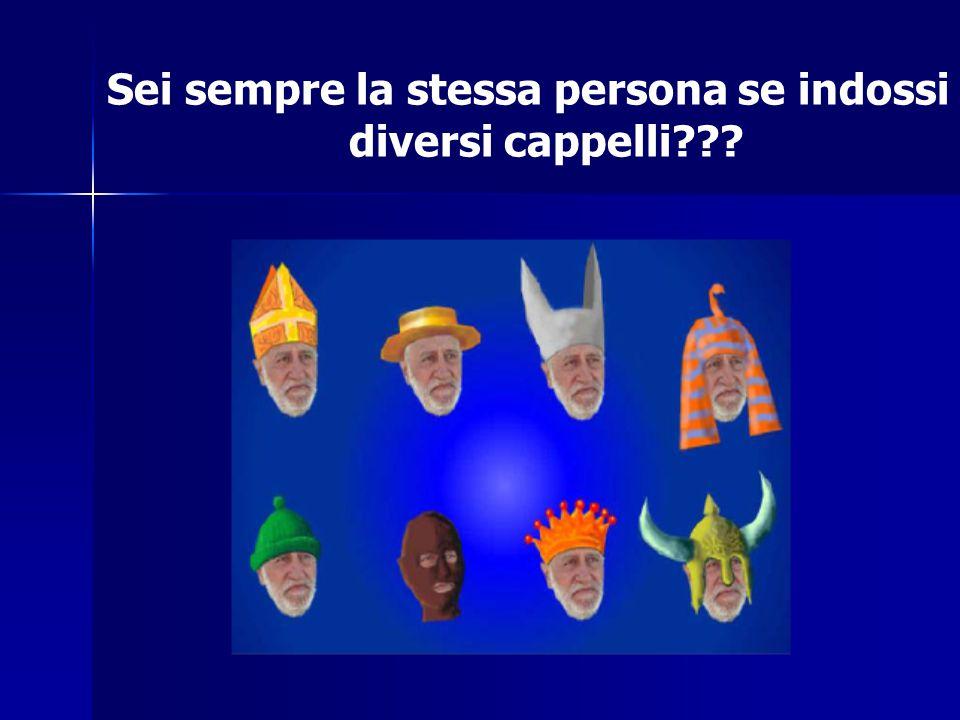 Sei sempre la stessa persona se indossi diversi cappelli???