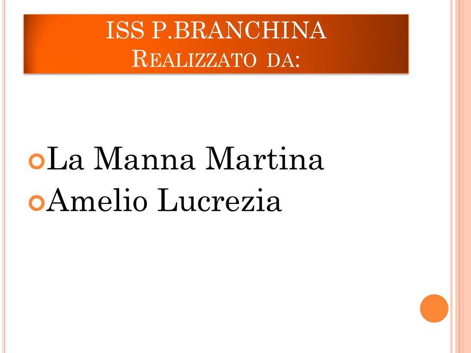 ISS P.BRANCHINA R EALIZZATO DA : La Manna Martina Amelio Lucrezia