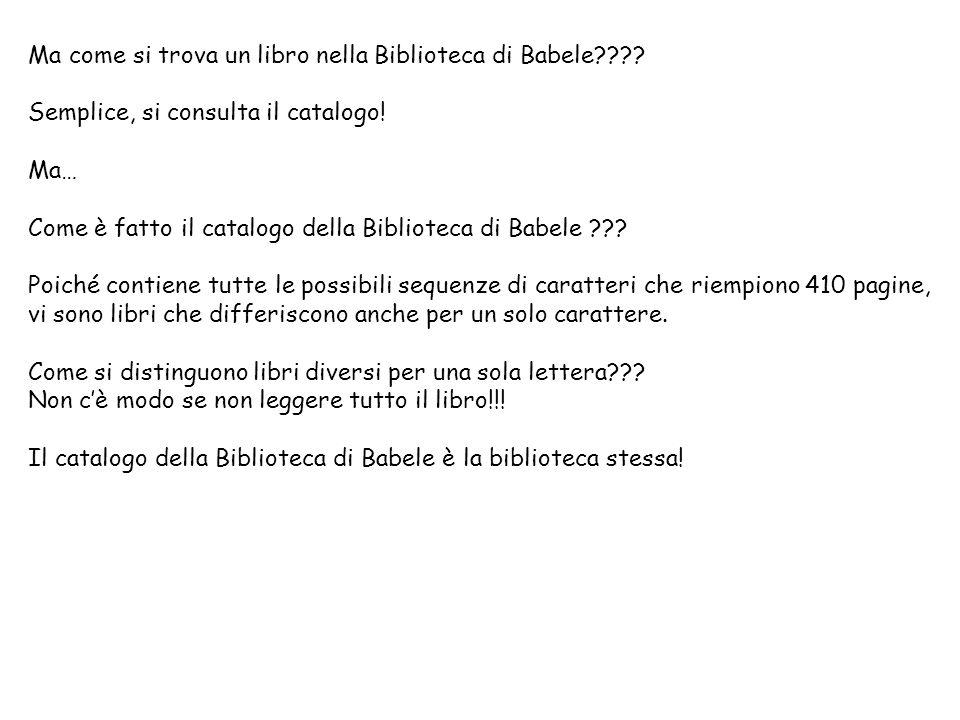 Ma come si trova un libro nella Biblioteca di Babele???.
