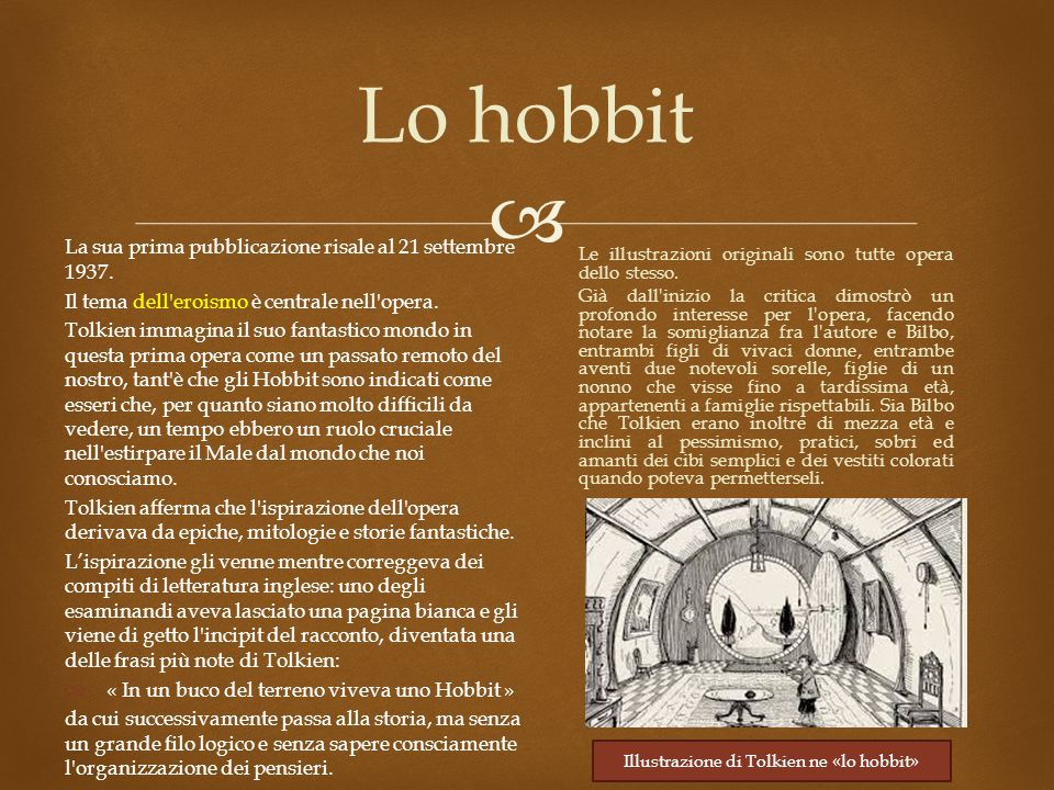  Lo hobbit La sua prima pubblicazione risale al 21 settembre 1937.