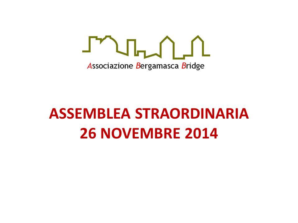 ASSEMBLEA STRAORDINARIA 26 NOVEMBRE 2014