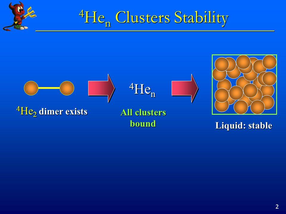 13 3 He m 4 He n m=2m=3m=4m=8 R.Guardiola, J.Navarro, Few-Body Syst. Suppl. 14, 223 (2003)