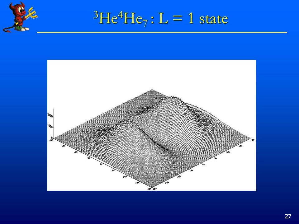 27 3 He 4 He 7 : L = 1 state