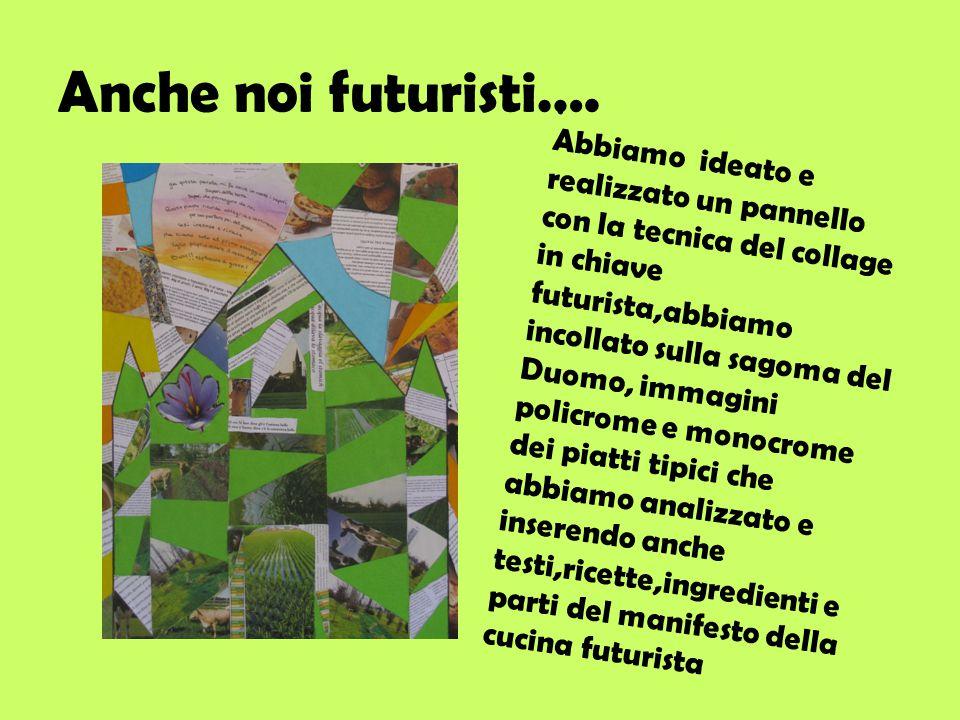 Anche noi futuristi….. Abbiamo ideato e realizzato un pannello con la tecnica del collage in chiave futurista,abbiamo incollato sulla sagoma del Duomo