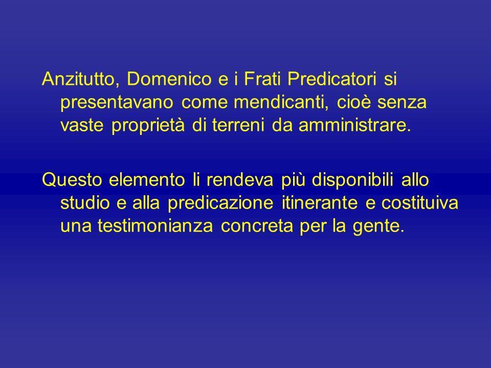 Domenico, infatti, in piena obbedienza alle direttive dei Papi del suo tempo, Innocenzo III e Onorio III, adottò l'antica Regola di sant'Agostino, ada