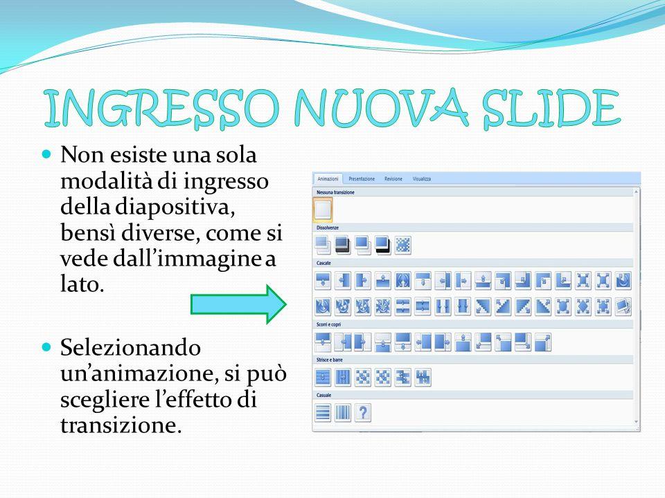 Per l'inserimento di una nuova diapositiva alla presentazione, e quindi una nuova pagina su cui cominciare a scrivere è necessario cliccare sulla case