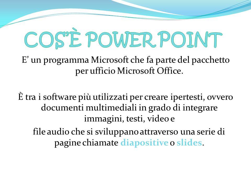 E' un programma Microsoft che fa parte del pacchetto per ufficio Microsoft Office.