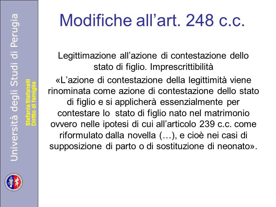 Università degli Studi di Perugia Diritto di famiglia Stefania Stefanelli Università degli Studi di Perugia Diritto di famiglia Stefania Stefanelli Mo