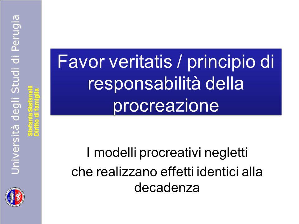 Università degli Studi di Perugia Diritto di famiglia Stefania Stefanelli Università degli Studi di Perugia Diritto di famiglia Stefania Stefanelli Fa