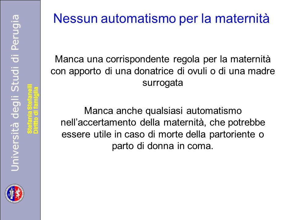 Università degli Studi di Perugia Diritto di famiglia Stefania Stefanelli Università degli Studi di Perugia Diritto di famiglia Stefania Stefanelli Ne