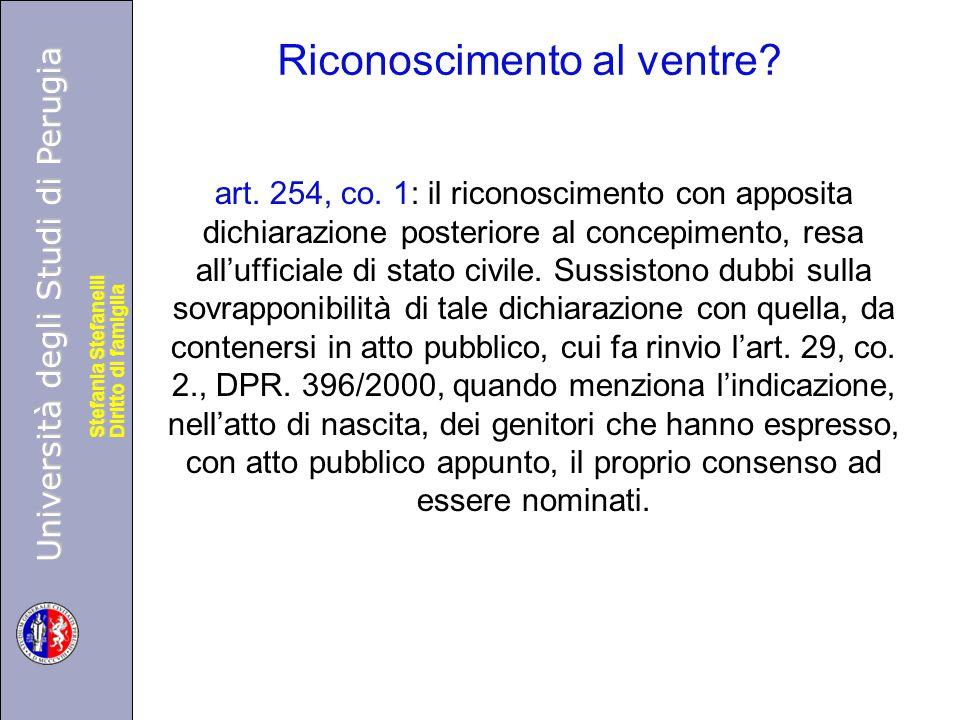 Università degli Studi di Perugia Diritto di famiglia Stefania Stefanelli Università degli Studi di Perugia Diritto di famiglia Stefania Stefanelli Ri