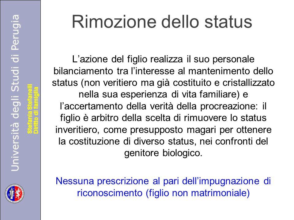 Università degli Studi di Perugia Diritto di famiglia Stefania Stefanelli Università degli Studi di Perugia Diritto di famiglia Stefania Stefanelli Consensus facit filios Art.