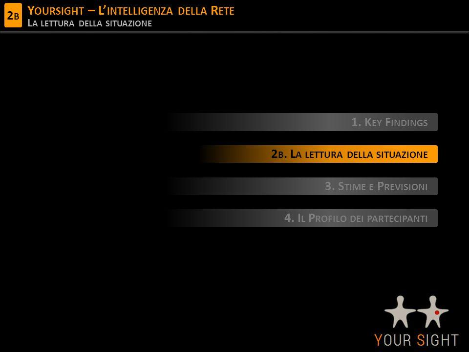 Y OURSIGHT – L' INTELLIGENZA DELLA R ETE L A LETTURA DELLA SITUAZIONE 1.